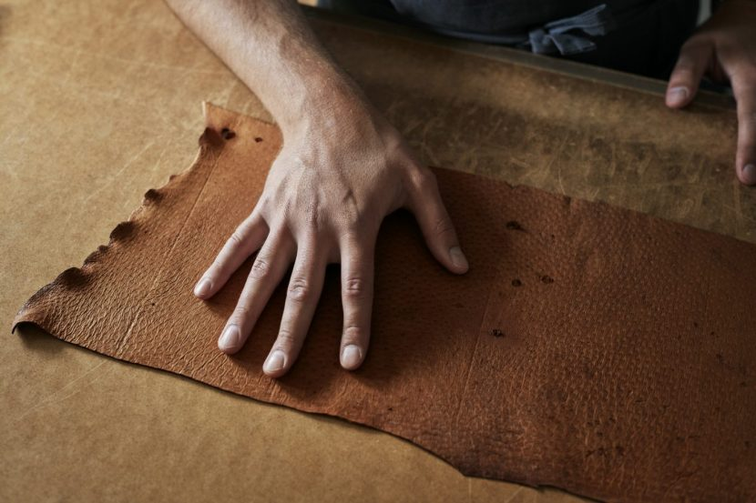 Craft-man and peccary leather