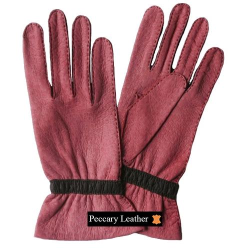 Carola Peccary Leather Gloves