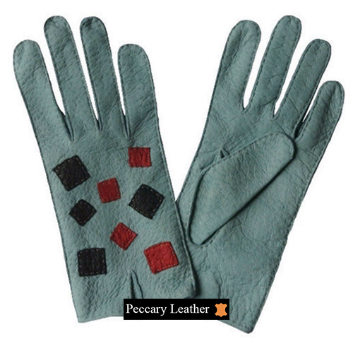Susana Peccary Leather Gloves