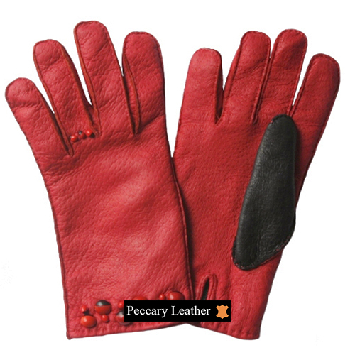 Luciana Peccary Leather Gloves