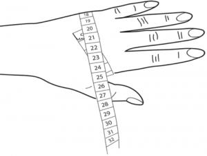 mesures de la main