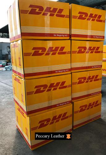 Peccary Leder Für Den Versand Verpackt